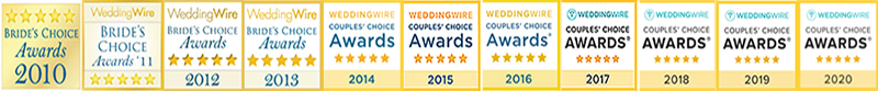 Wedding Wire Couples Choice Awards from 2010 thru 2020