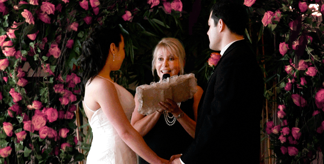 Getting married with officiant Arlene