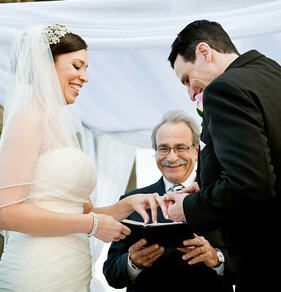 Exchanging Rings with Reverend Paul
