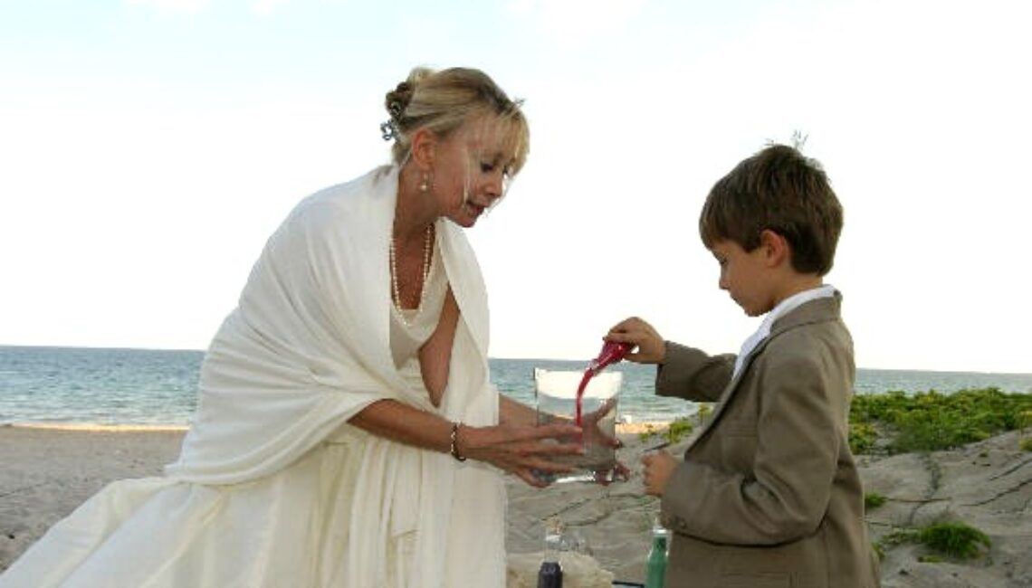 sand ceremony therese & bill