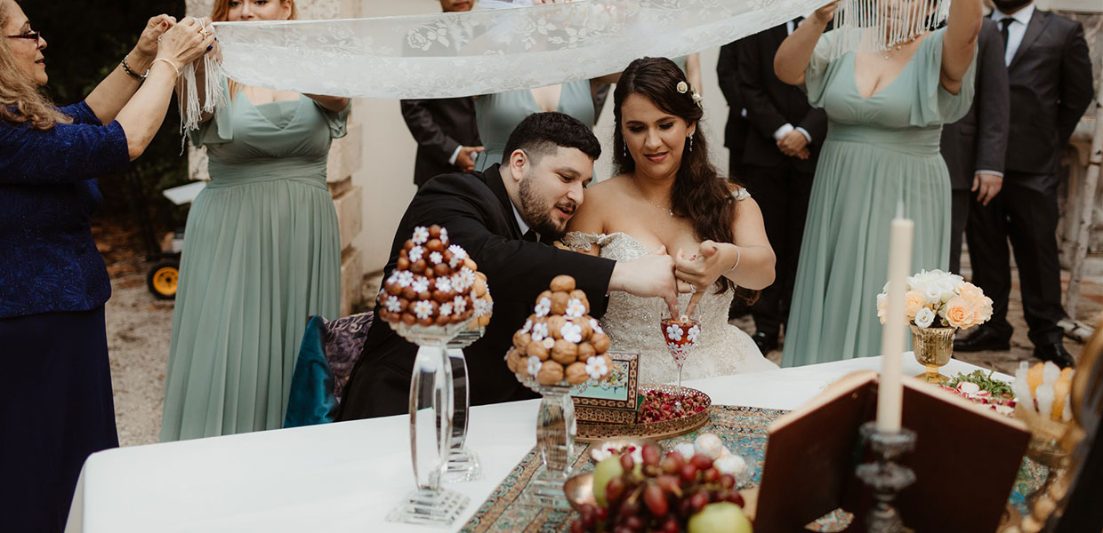 Persian wedding tradition, Sofreh Aghd