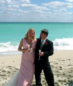 renewal of vows ceremony on the beach!